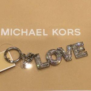 NEW Michael Kors LOVE Key Chain Charm